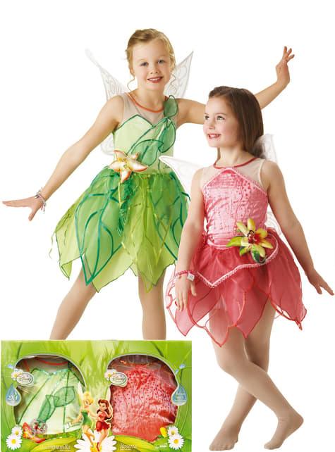 Disfraz de Campanilla y Rosetta para niña en caja