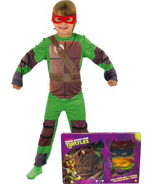 The Ninja Turtles Kostuum voor jongens in een doos