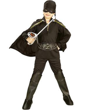 Zorro kostume til drenge i kasse