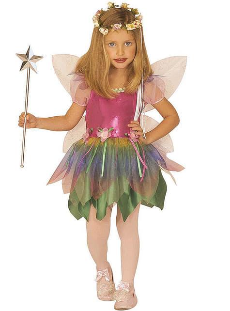 Rainbow fairy costume for a girl