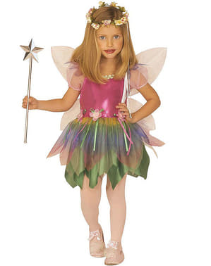 Rainbow fairy costume for a girl
