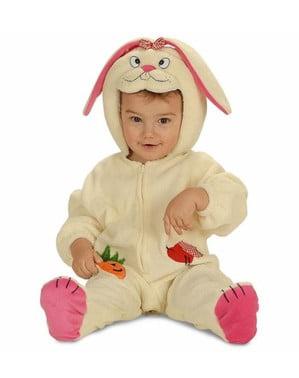 Fato de coelhinho com orelhas para bebé