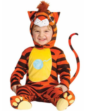 Orange tiger costume for babies