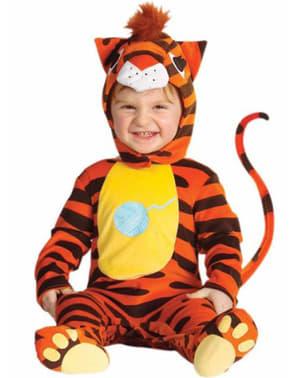 Оранжев костюм тигър за бебета
