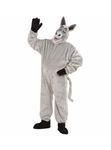Disfraz de burro de peluche deluxe para adulto
