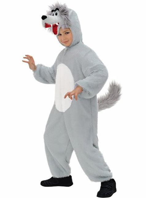 Plush wolf costume for Kids