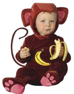 Banana monkey costume for a small child