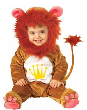 Fato de leão de peluche para bebé