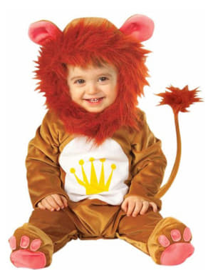 Lion plush costume for a small child