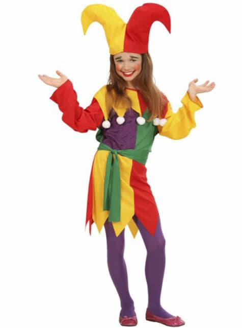 Disfraz de bufón para niña