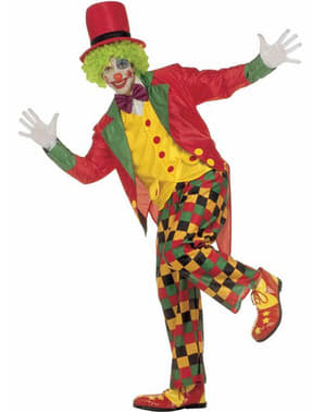 Elegant clown costume for an adult