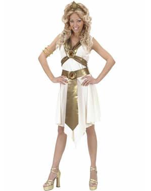 Fato de deusa romana para mulher