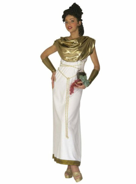 Greek goddess costume for a woman