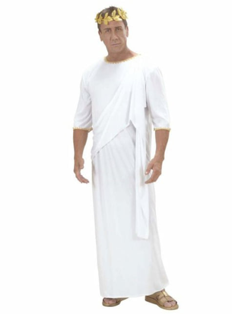 Disfraz de toga romana para adulto