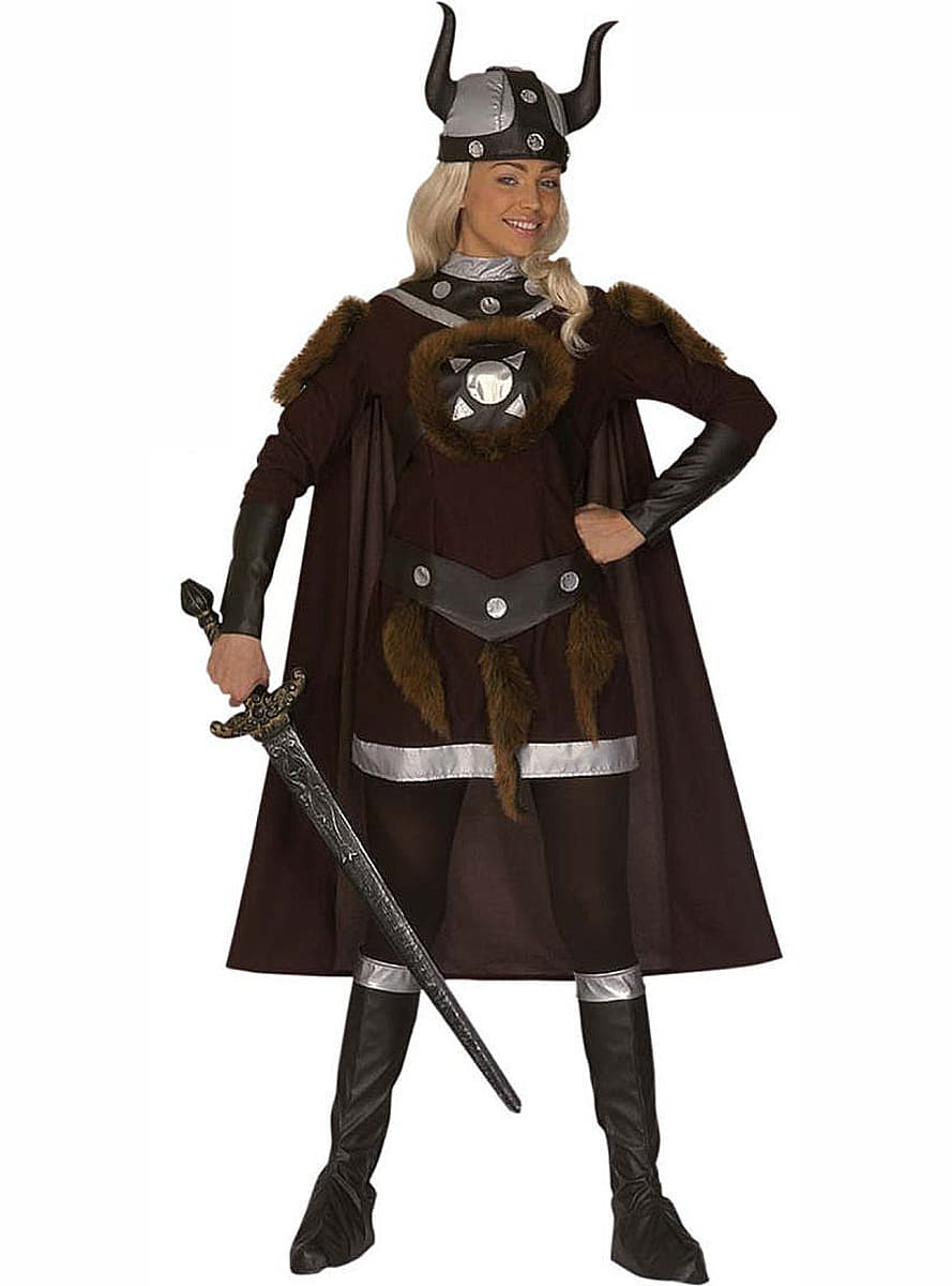 Viking warrior costume for a woman. Express delivery ...