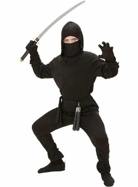 Ninja warrior costume for a child