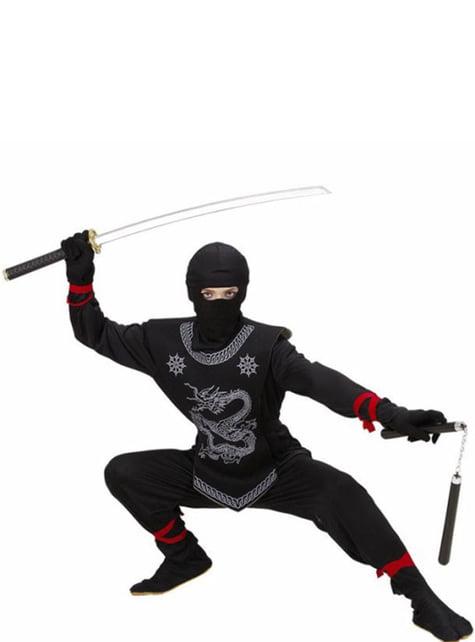 Fato de ninja do dragão para menino
