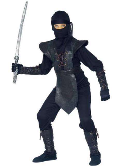 Ninja Krieger Kostüm für Jungen deluxe