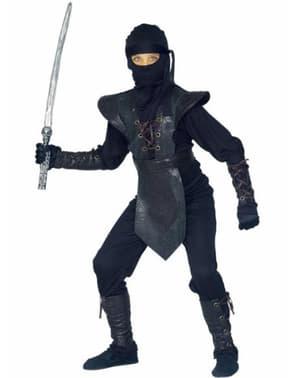 Ninja kriger kostume deluxe til drenge