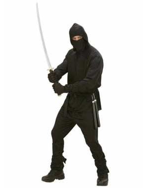 Ninja warrior costume for a man