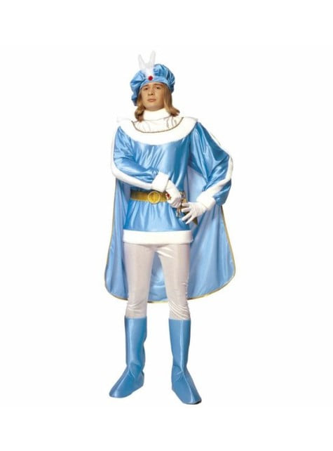 Blue prince costume for a man