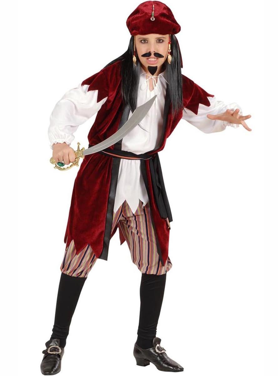 Disfraz de pirata Sparrow para niño. Entrega rápida  dd961c2d1b1e