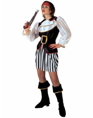 Corsair plunderer costume for a woman