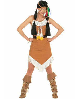 Indian wind princess costume for a woman