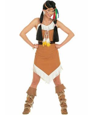 Indiansk vindens prinsessa flickdräkt