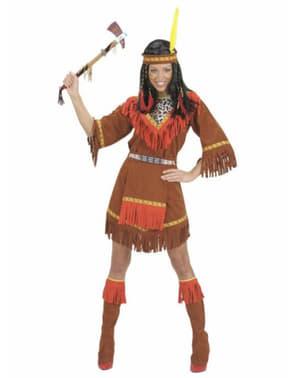 Indiansk Chayenne kvinnodräkt