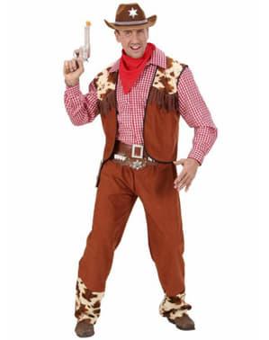 Fato de cowboy do far west para homem