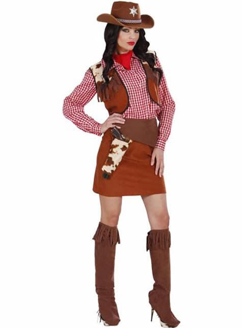 Disfraz de cowgirl del far west para mujer