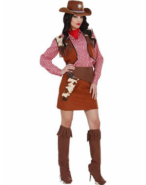 Far West cowgirl costume for a woman