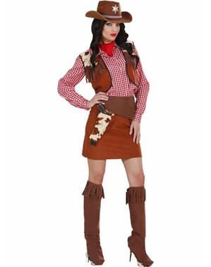 Langt Vest Cowgirl Kostyme for Dame