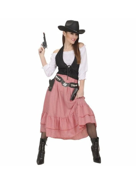 Cowboy saloon costume for a woman