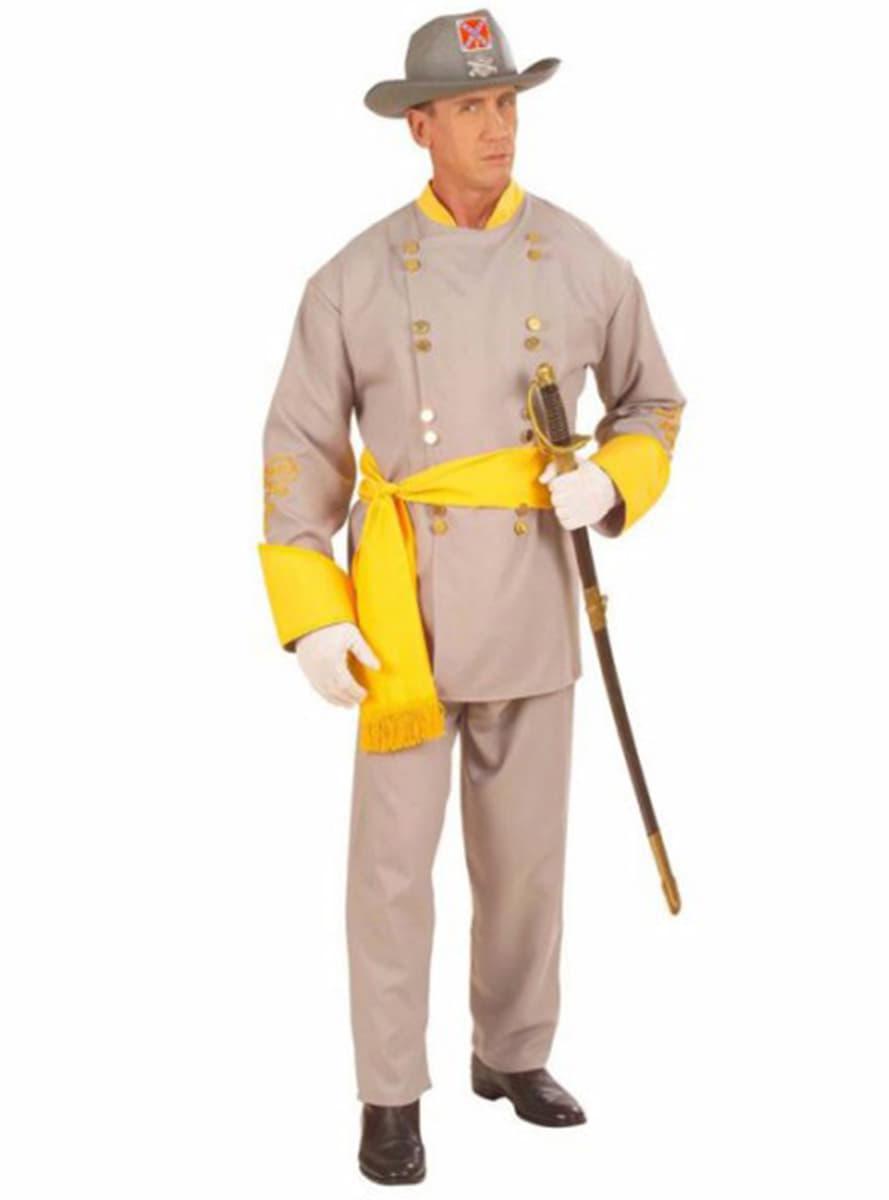 Kostým pro dospělé generál Konfederace. Nejvíc cool  c8bfd8895d