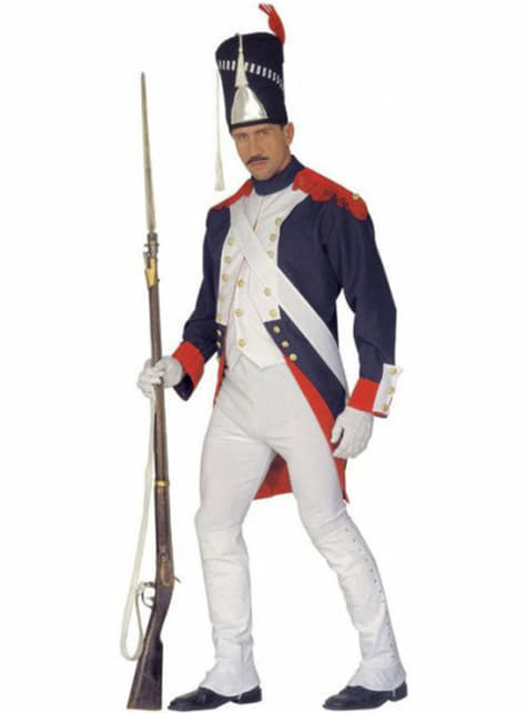 男のナポレオン兵士の衣装