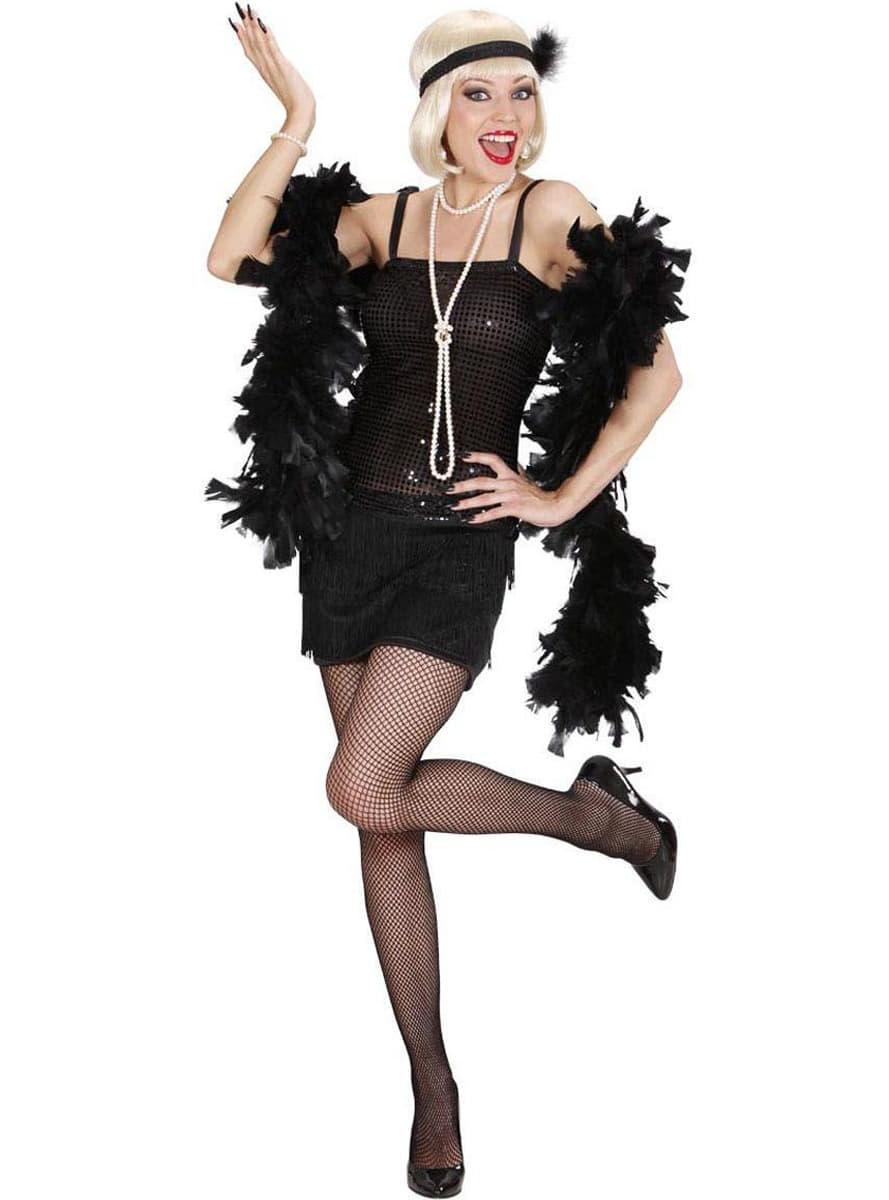 Disfraz de cabaret a os 20 negro para mujer comprar - Fiesta anos 20 ...