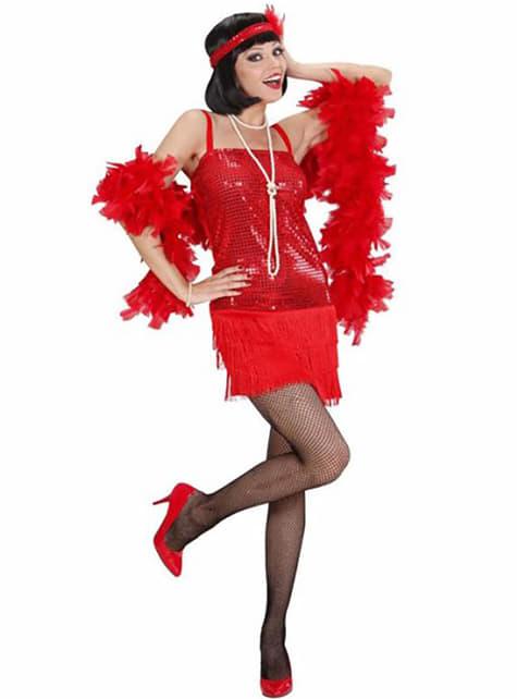 Disfraz de cabaret años 20 rojo