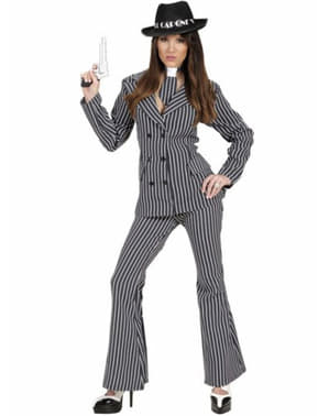 Mafia gangster costume for a woman