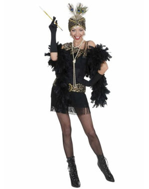 1920s black party costume for a woman