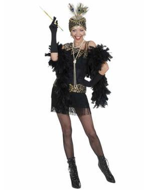 Чорний вечірній костюм в стилі 1920-х для жінок