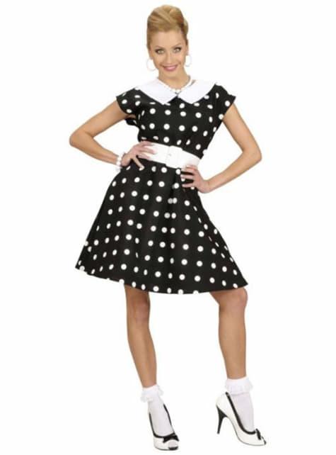 Чорний костюм 50-х років для жінки