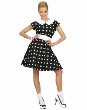 Kostüm für Damen 50er Jahre schwarz