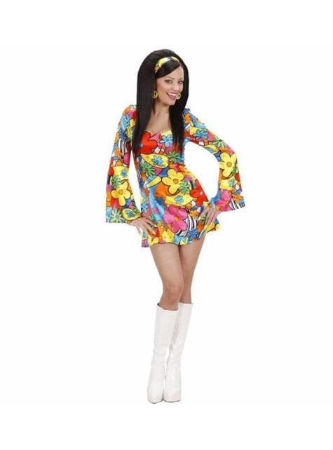 Disfraz de hippie flower power para mujer