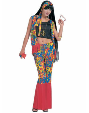 Hippie festival goer costume for a woman