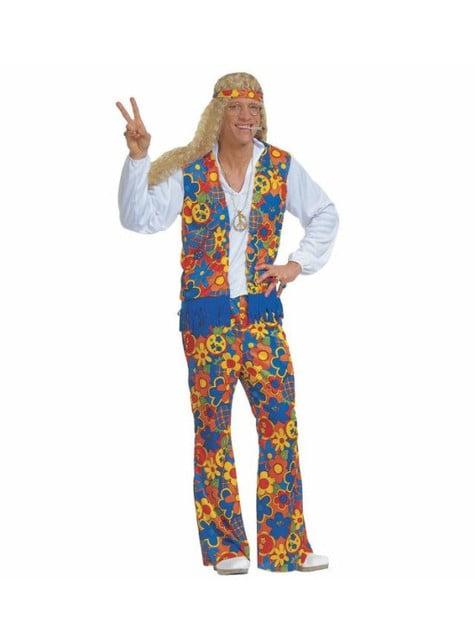 Hippie festivalgåer kostyme for mann