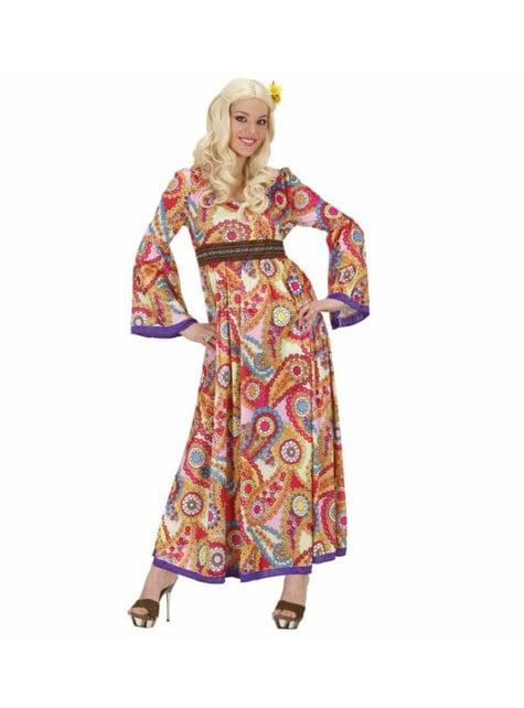 Disfraz de hippie cantante para mujer