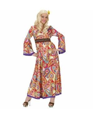 Strój hippie piosenkarka damski