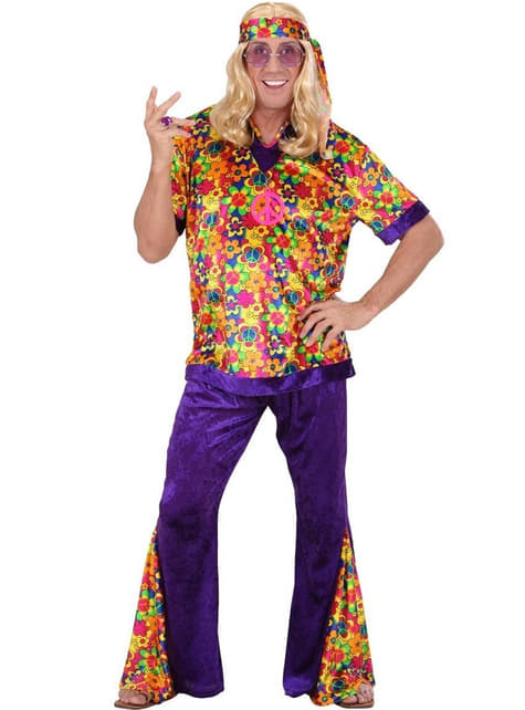 Disfraz de hippie flower para hombre